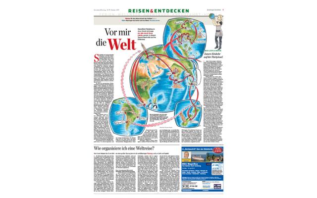 Around the world - Hamburger Abendblatt | www.panatta-illustration.com