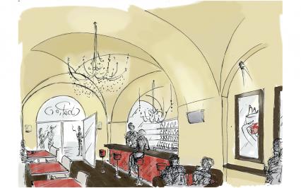 wine bar 01 | Francesca Panatta Illustration
