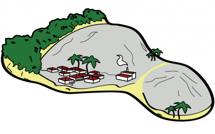 Logo Ecological footprint of islands | Francesca Panatta Illustration