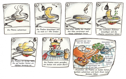Piadina Recipe | Francesca Panatta Illustration