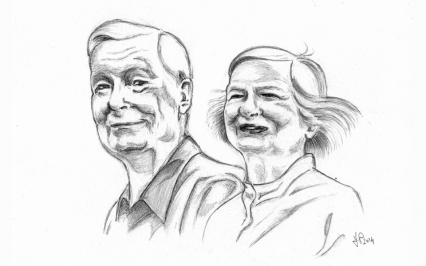 Portrait of a couple | Francesca Panatta Illustration