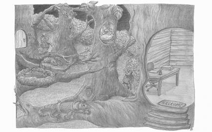 Night in the wood | Francesca Panatta Illustration