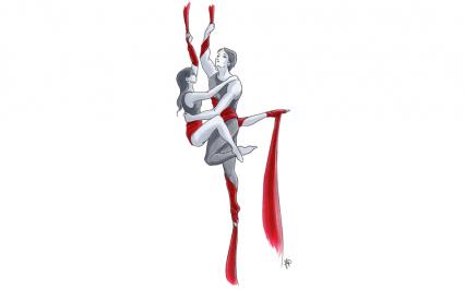 Aerial silk | Francesca Panatta Illustration