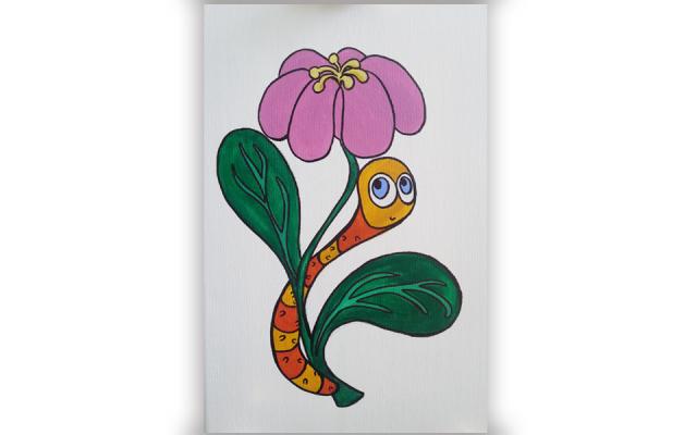 Giraffe and Worm   Francesca Panatta Illustration